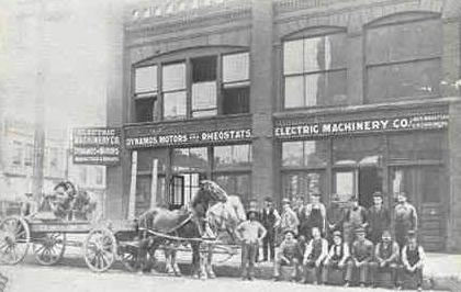 Electric Machinery building at the 1890s decade.